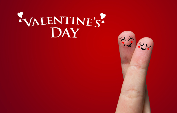 Valentines Day Love Couple Fingers Art Picture