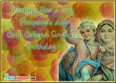 Wishing You A Very Prosperous Day Guru Gobind Singh Ji's Birthday
