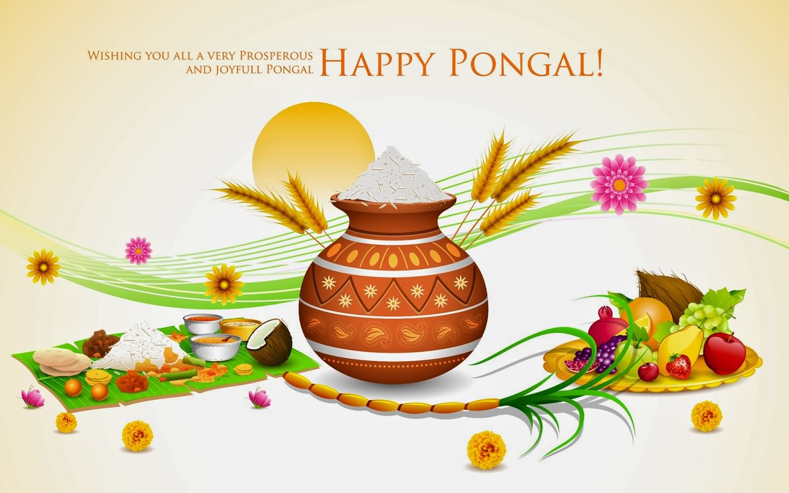 Wishing you all a very prosperous and joyful pongal greetings m4hsunfo