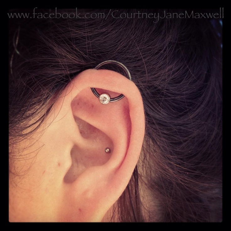 Awesome Ear Conch And Orbital Piercing