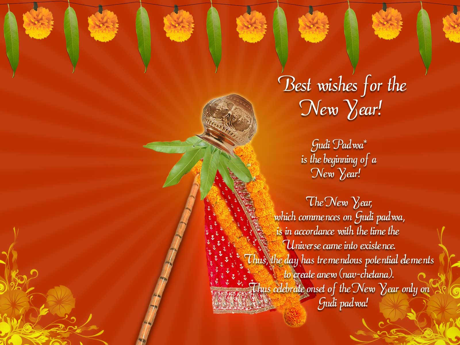 Best Wishes For The New Year Gudi Padwa