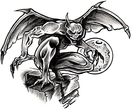 10 amazing gargoyle tattoo designs ideas gallery. Black Bedroom Furniture Sets. Home Design Ideas