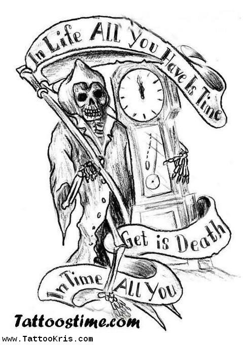 Gallery For gt Grim Reaper Tattoo Stencil
