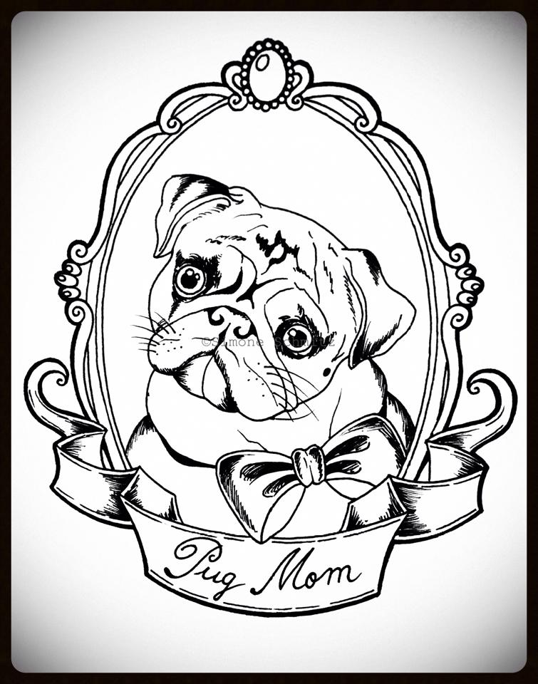 pug tattoos. Black Bedroom Furniture Sets. Home Design Ideas