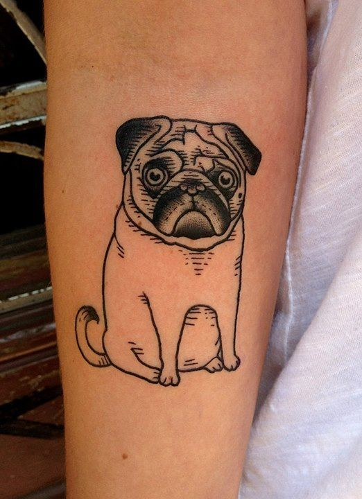 34 awesome pug tattoo images and pictures. Black Bedroom Furniture Sets. Home Design Ideas