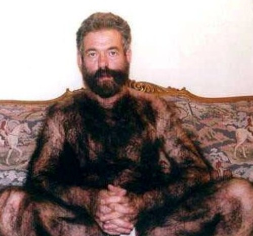 Most hairy men