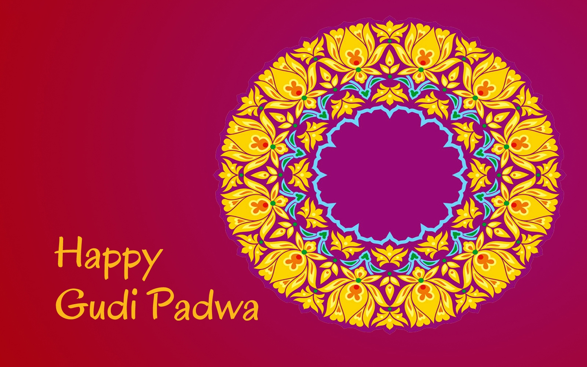 gudi padwa Being the first day of the first month of the year, gudhi padwa is the new year's day for marathi people this day is known as ugadi in karnataka region, and people used to wish each other on this day.