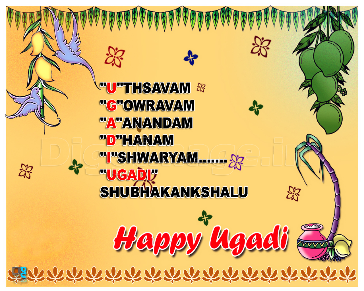Happy ugadi greeting card kristyandbryce Images