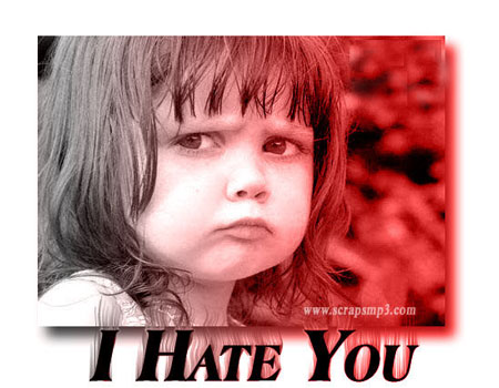 Image result for I hate you