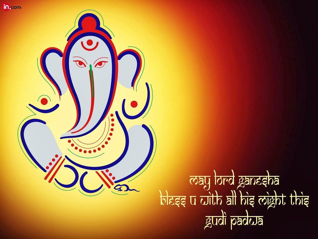 20 delightful gudi padwa wishes wallpapers may lord ganesha bless you with all his might this gudi padwa wallpaper kristyandbryce Gallery