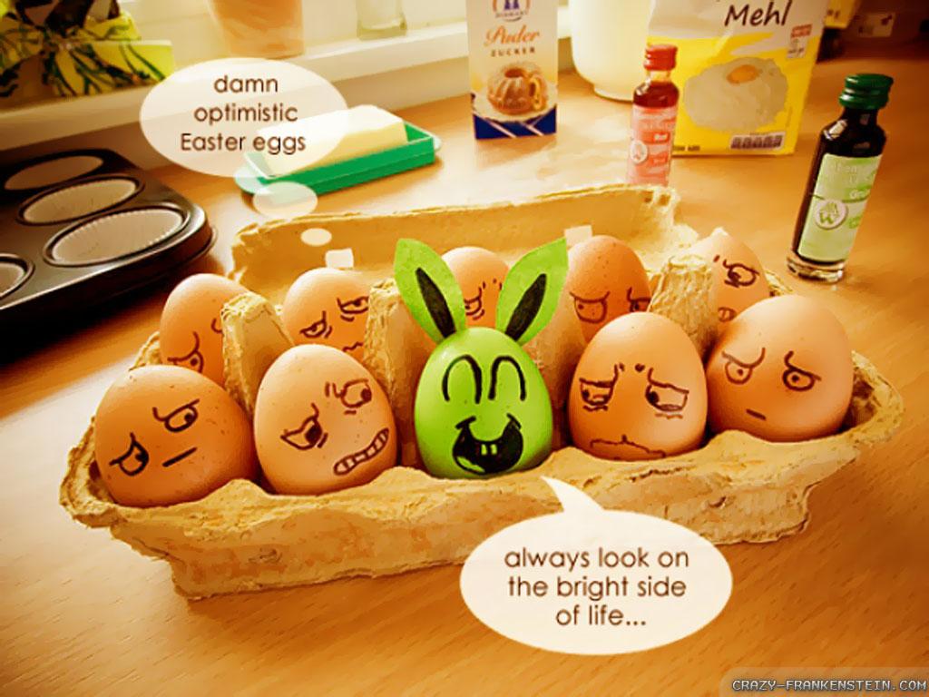 optimistic easter eggs funny image