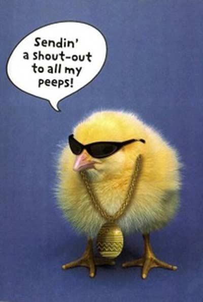 Rockstar Funny Easter Chicken