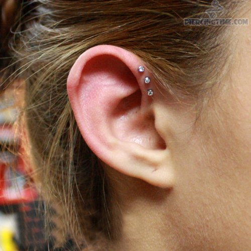 dual lobe and triple anti helix piercing picture. Black Bedroom Furniture Sets. Home Design Ideas
