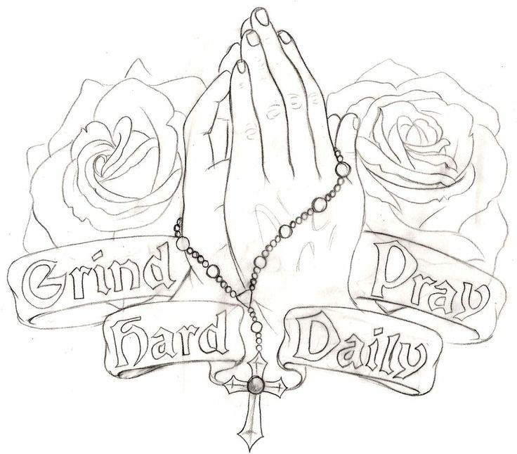 Gallery For gt Praying Hands With Rosary Drawing