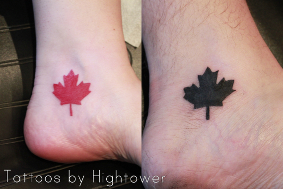 6 maple leaf tattoo designs and ideas for Canadian leaf tattoo designs
