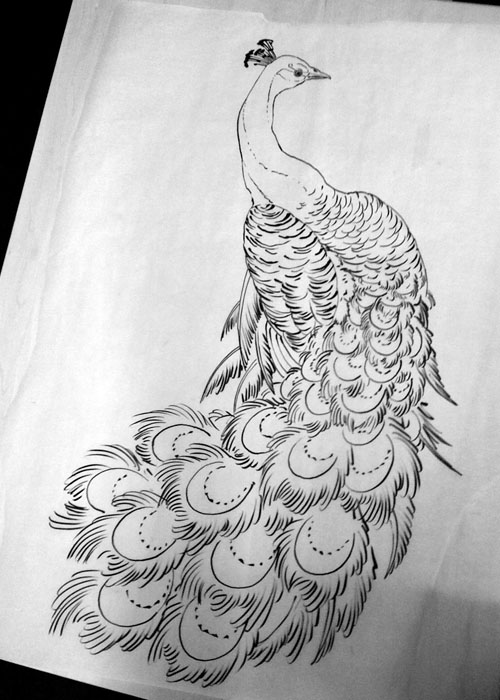 Peacock Tattoo Black And White
