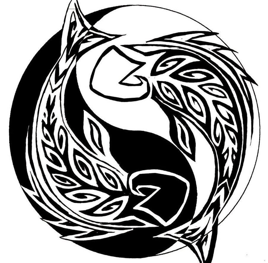Black tribal pisces in yin yang tattoo stencil sciox Gallery