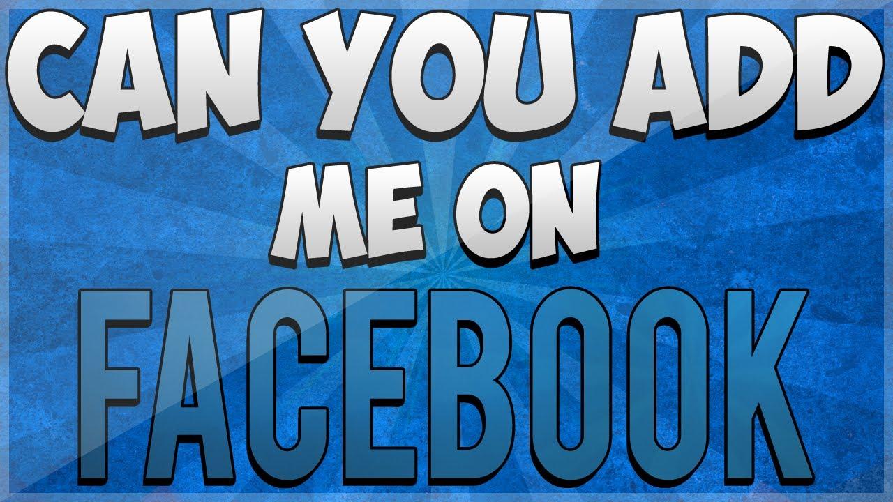 Me On Add Facebook