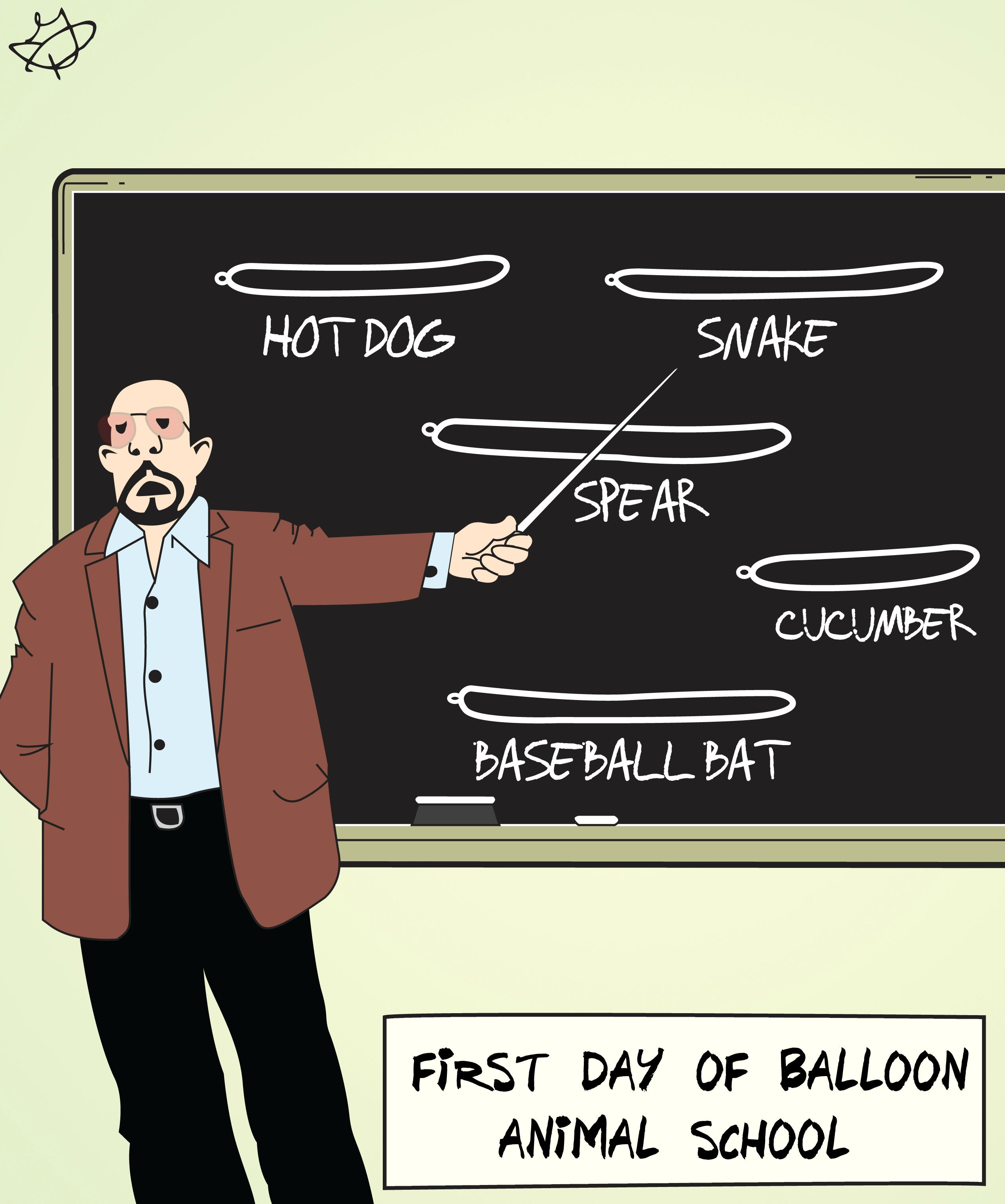 First Day Of Balloon Animal School Funny Picture