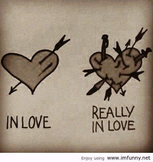 In Love And Really Love Funny Image