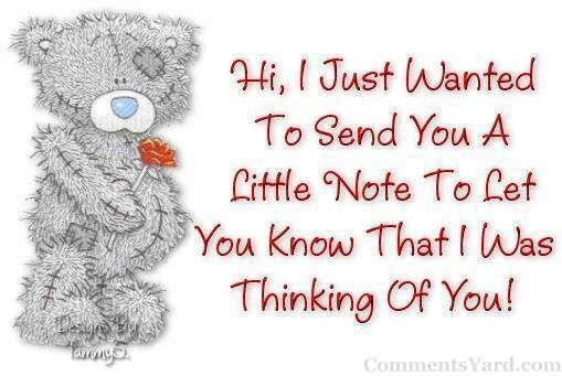 little note to let you know that i was thinking of you tatty teddy