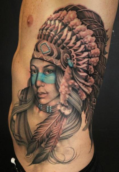 21 indian tattoo images pictures and design ideas for Native american woman tattoo