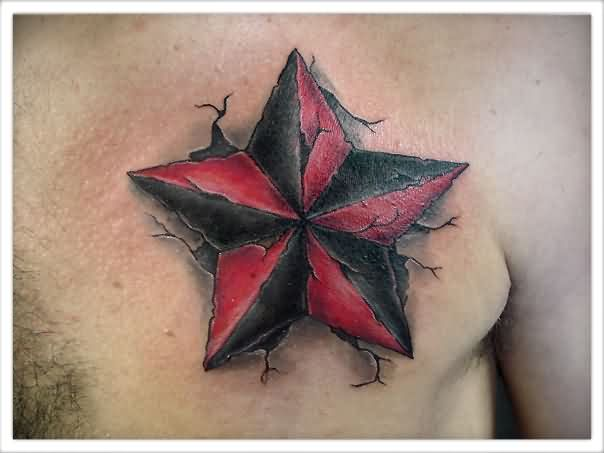15 Inspirational Nautical Star Tattoo Images, Pictures And Designs