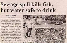 Sewage Spill Kills Fish Funny Newspaper