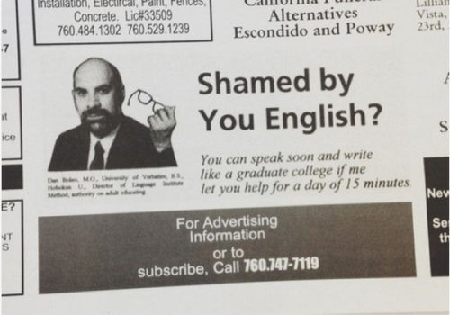 Shamed By You English Funny Newspaper