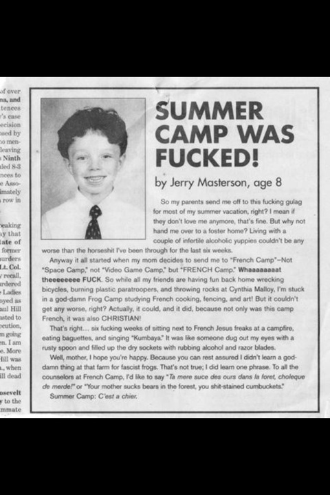 [Image: Summer-Camp-Was-Fucked-Funny-Newspaper.jpg]