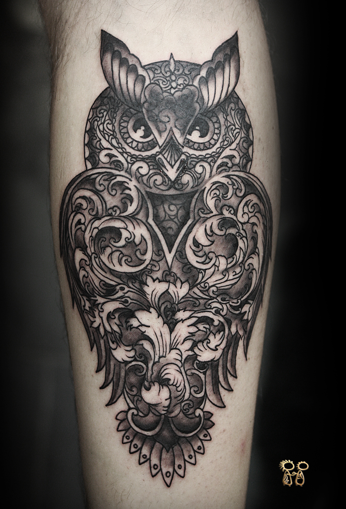 Unique Dotwork Owl T