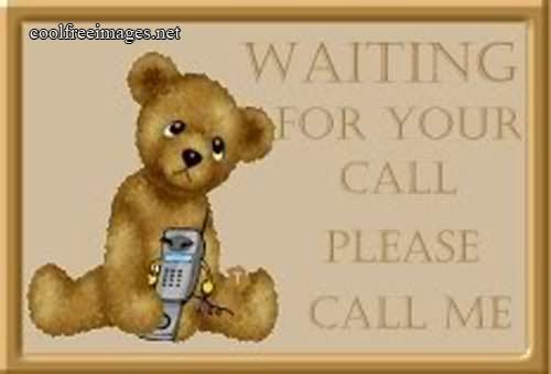 Waiting For Your Call Please Call Me Teddy Bear Picture