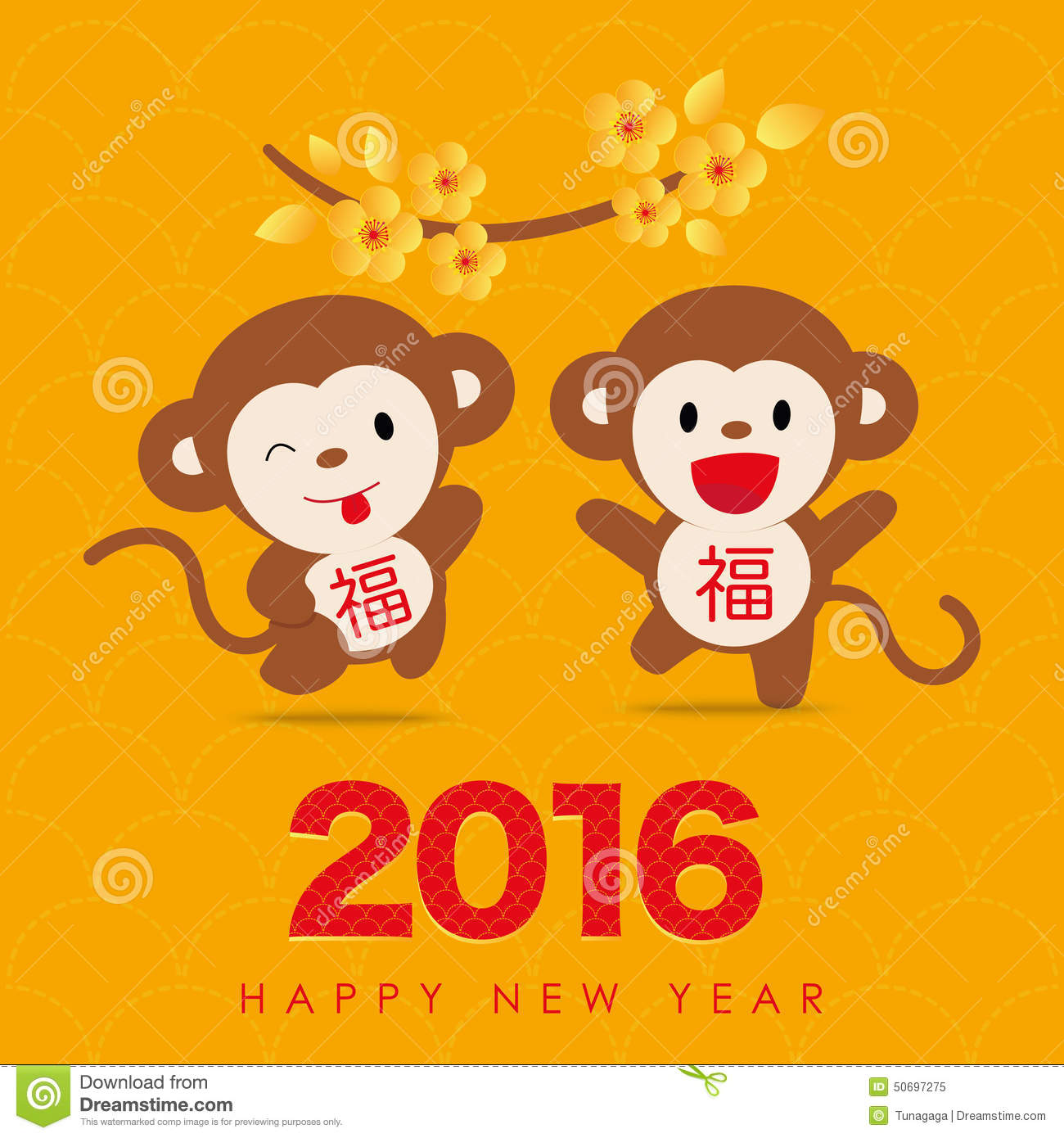 2016 happy chinese new year of monkey - Chinese New Year 2016 Animal