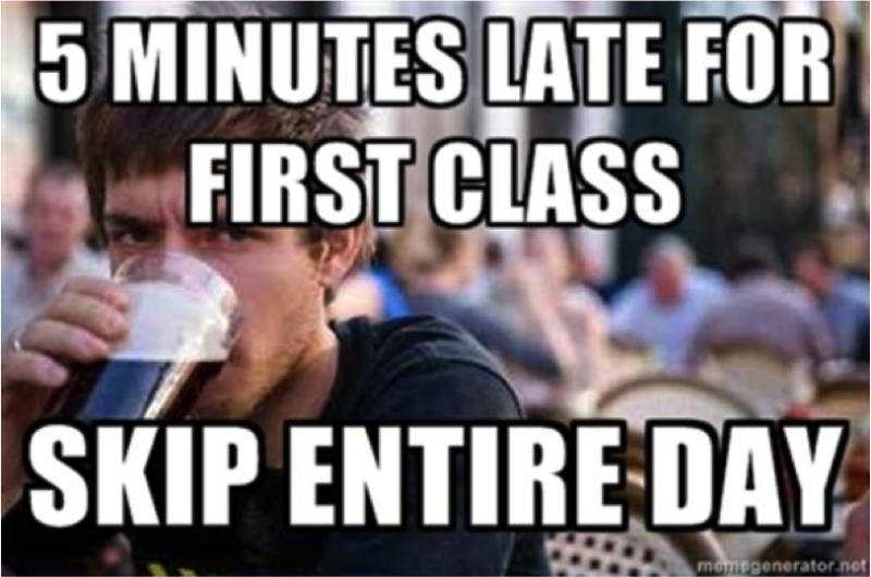 Funny Memes For Profile Pic : Minutes late for first class funny lazy meme
