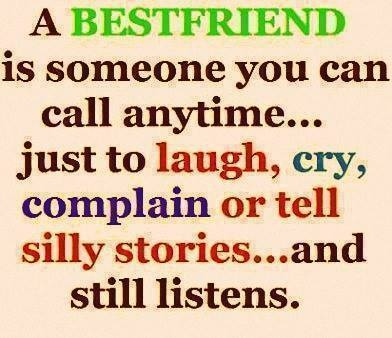 a best friend is someone you can call anytime