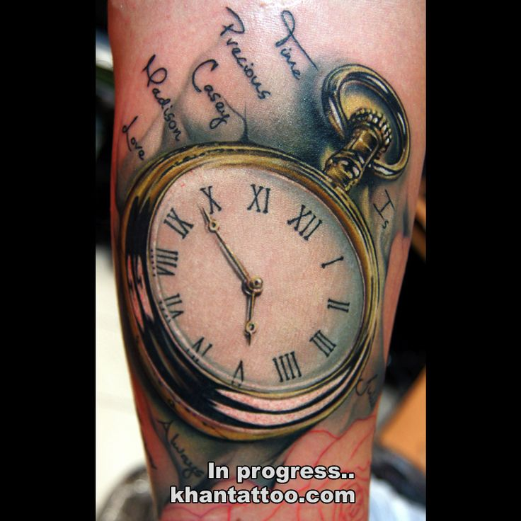 19 pocket watch tattoo images pictures and ideas for Pocket watches tattoos