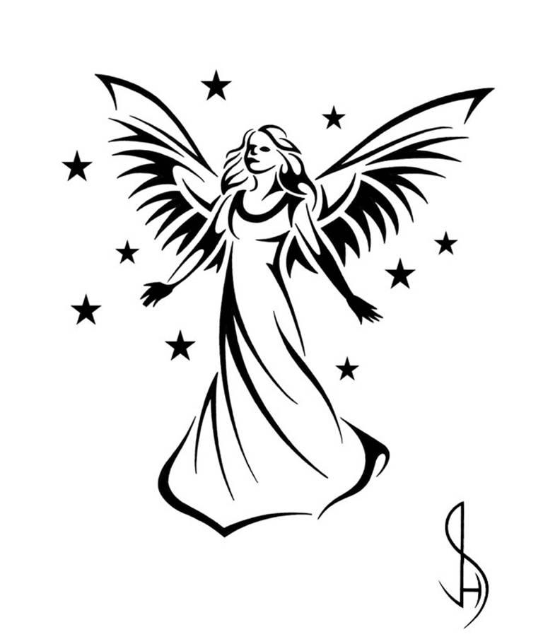 angel tattoos angel wings guardian free tattoo designs