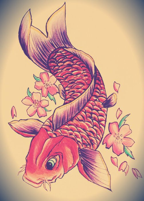 21 koi fish tattoo design and ideas for Koi fish designs