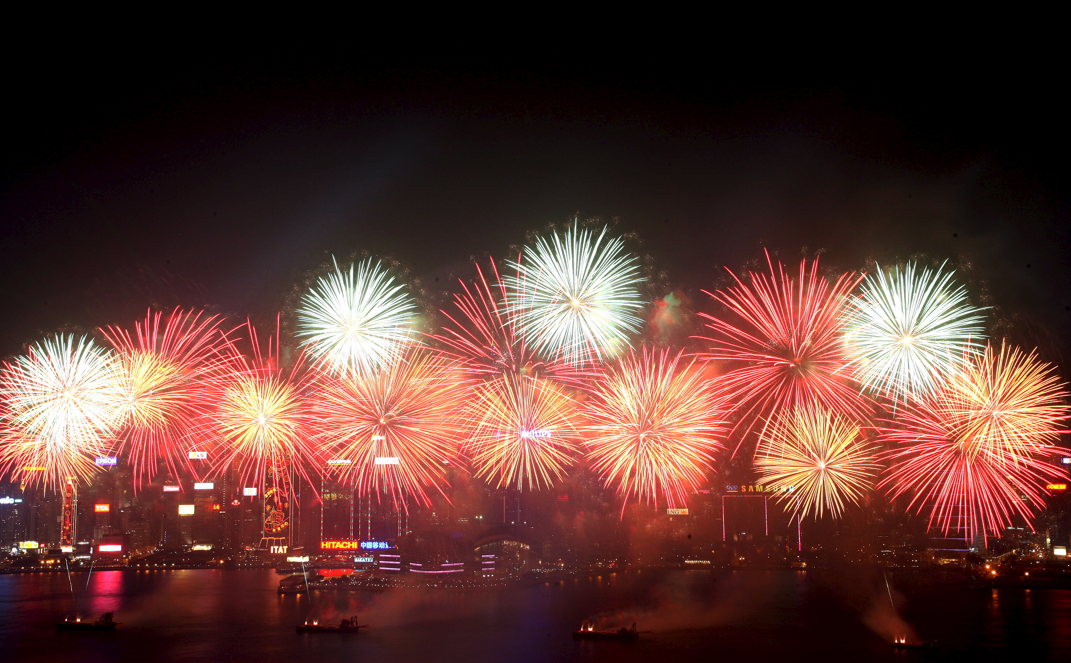 beautiful fireworks on chinese new year - Happy New Years In Chinese