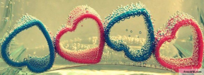 Beautiful Love Cover Photos For Facebook Timeline : Beautiful Hearts Facebook Timeline Cover Image