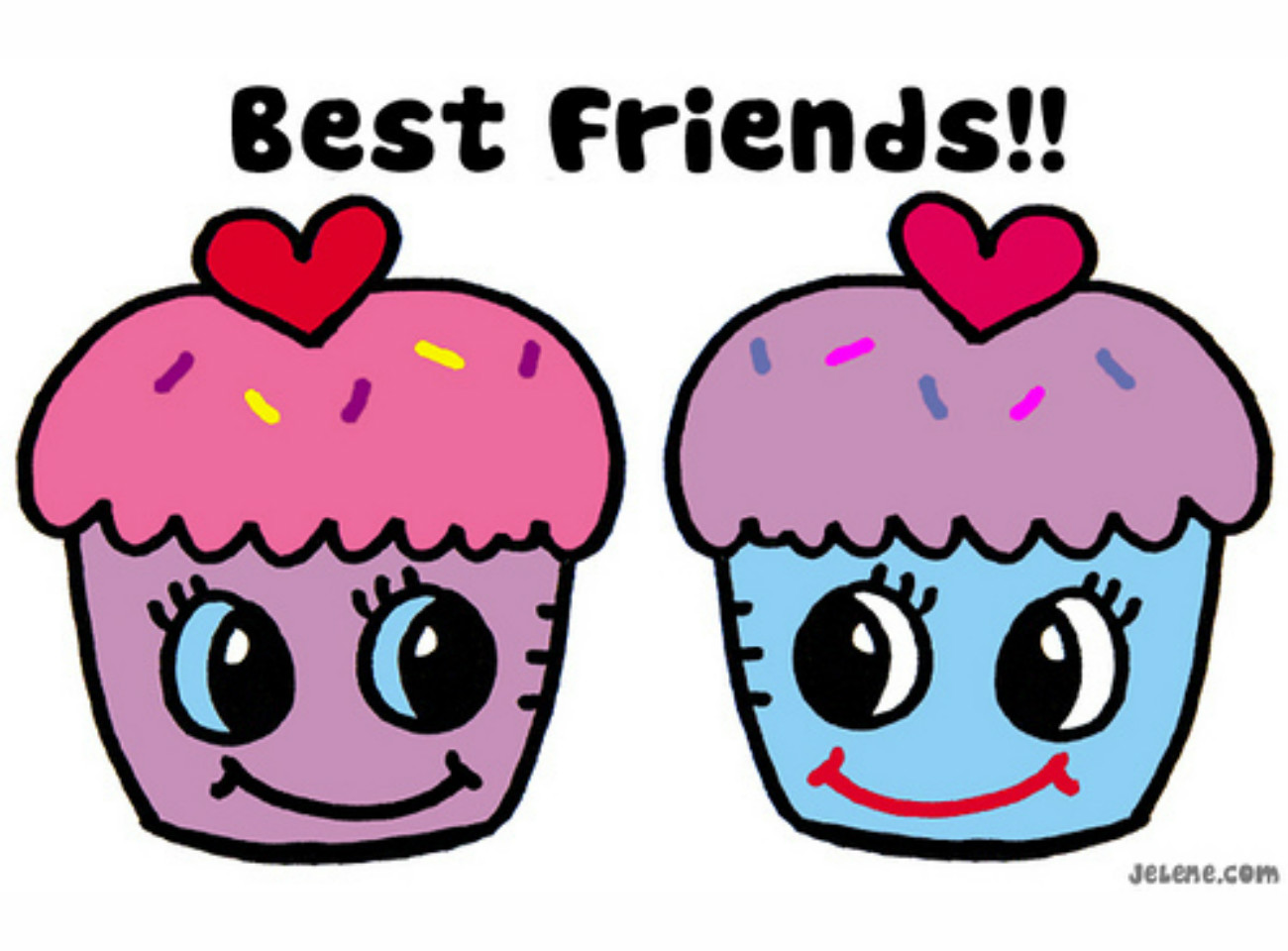 Best Friends Cup Cakes Wallpaper