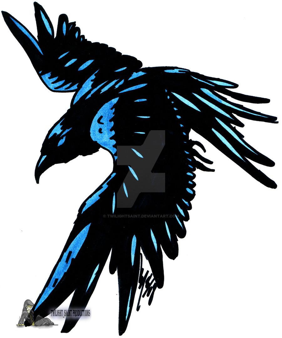 black tribal raven tattoo stencil by alister. Black Bedroom Furniture Sets. Home Design Ideas