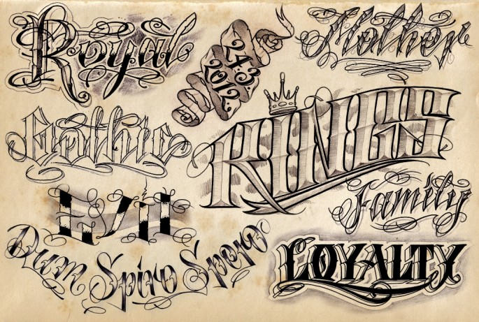 6 fantastic lettering tattoo design ideas for Grey tattoo writing