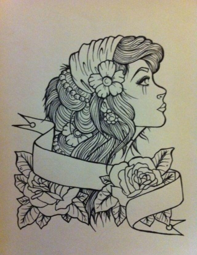 Gallery For gt Gypsy Head Tattoo Design