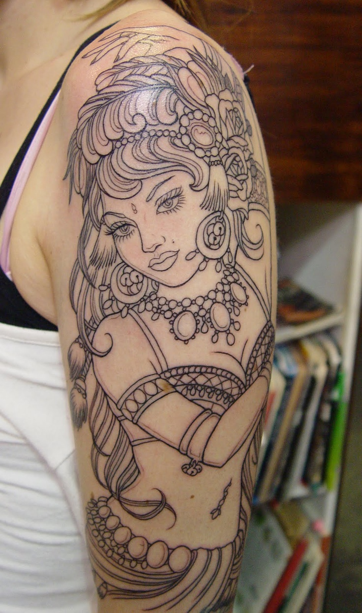 9 gypsy tattoo images pictures and inspired ideas for Black girl tattoos