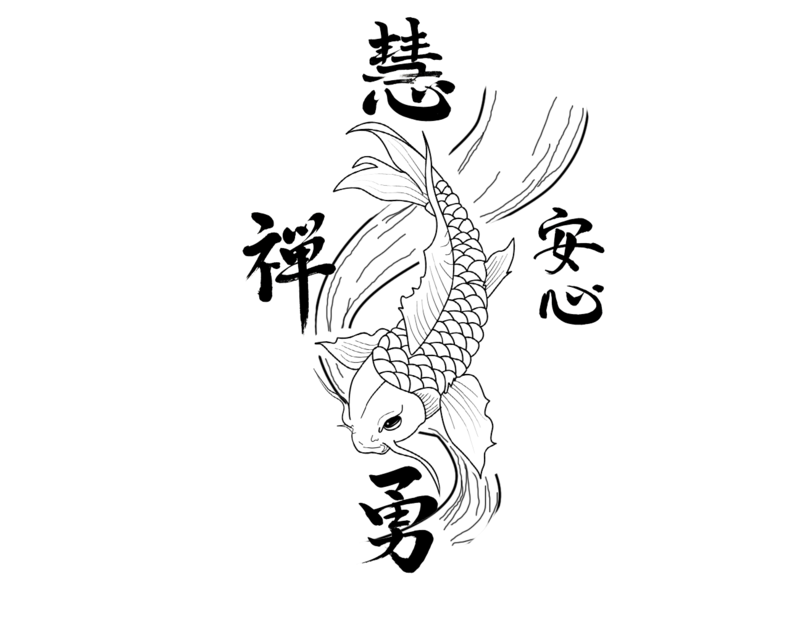 Black Koi Fish Tattoo Stencil By Michael
