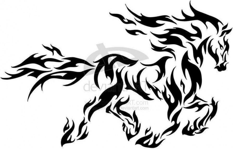 black tribal horse tattoo stencil rh askideas com tribal horse tattoos for women tribal horse tattoos designs