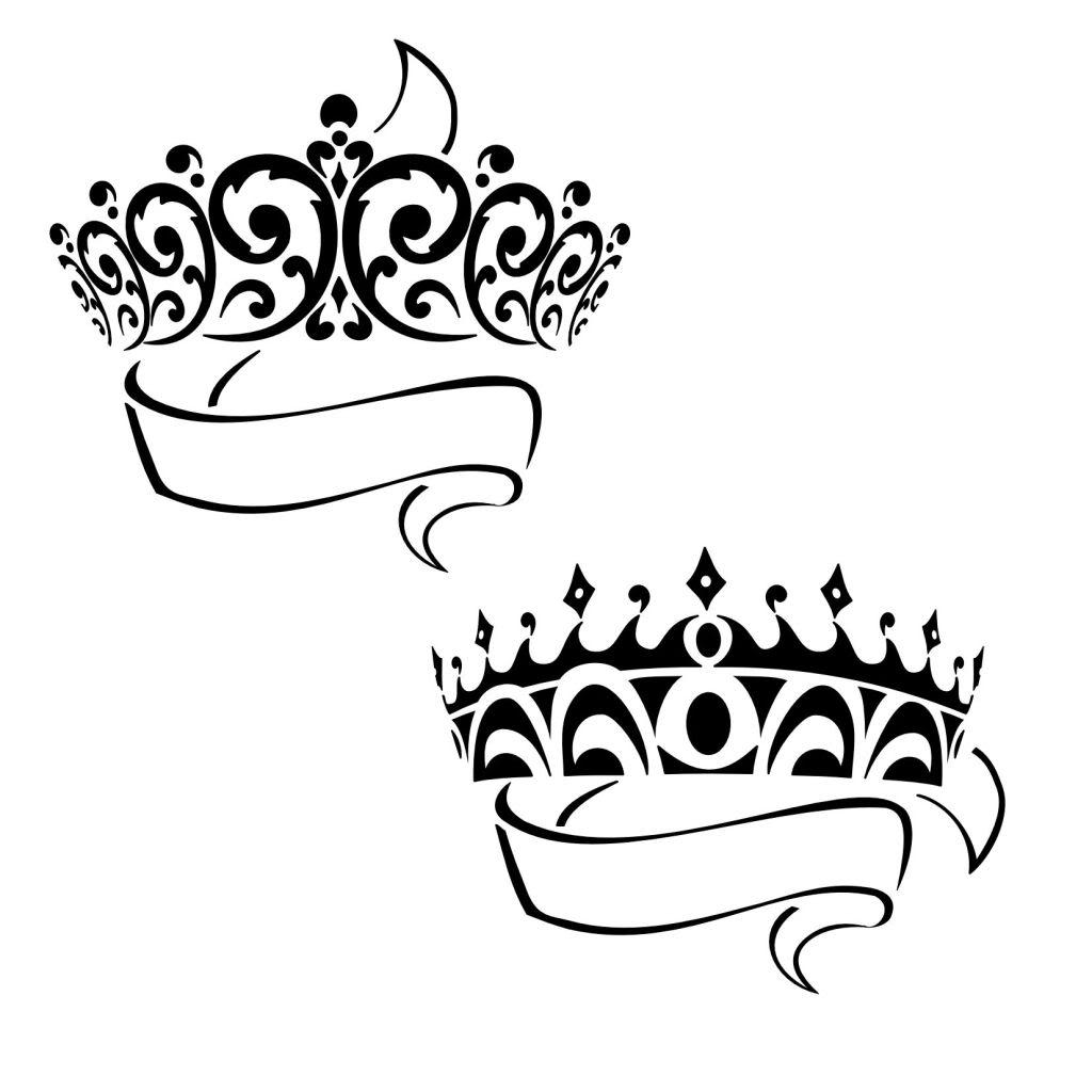 13 nice crown tattoo design ideas for girls. Black Bedroom Furniture Sets. Home Design Ideas