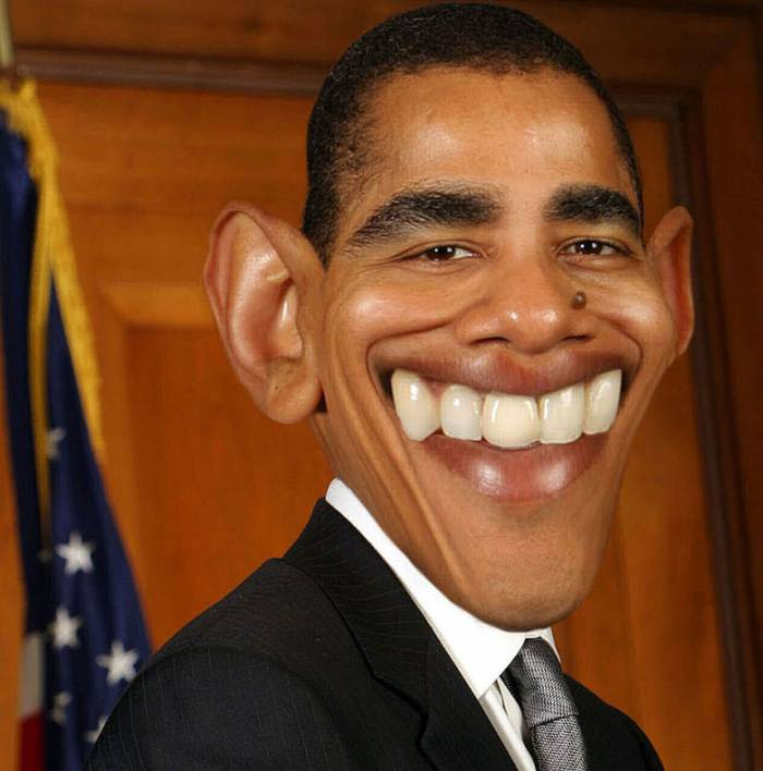 funny obama face picture