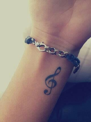26 Cool Violin Key Tattoo Images, Pictures And Ideas